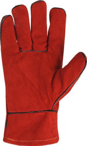Перчатки DOLONI краги 27см красные с подкладкой 10р 4575 - PRORAB image-1