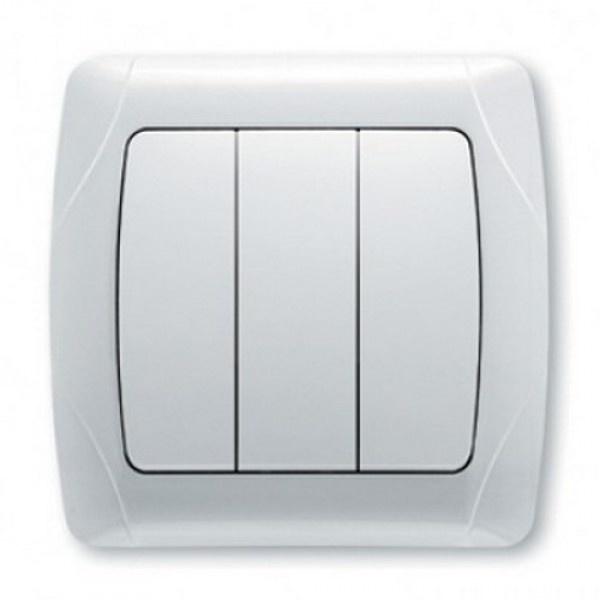Выключатель VIKO Carmen 3-клавишный, внутренний белый - PRORAB