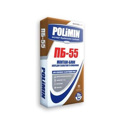 Клей для газоблока POLIMIN ПБ-55 25кг - PRORAB