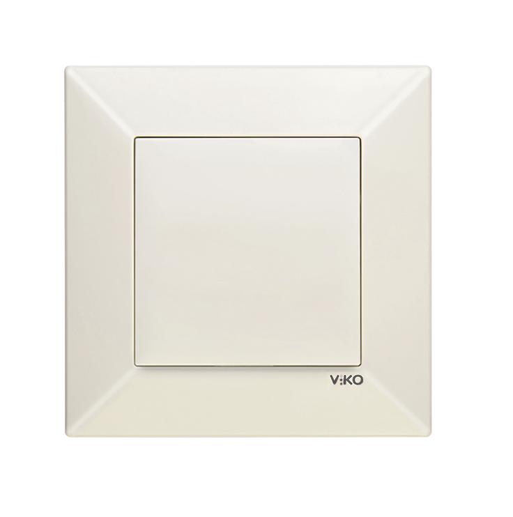 Выключатель VIKO Meridian 1-клавишный внутренний крем - PRORAB image-1