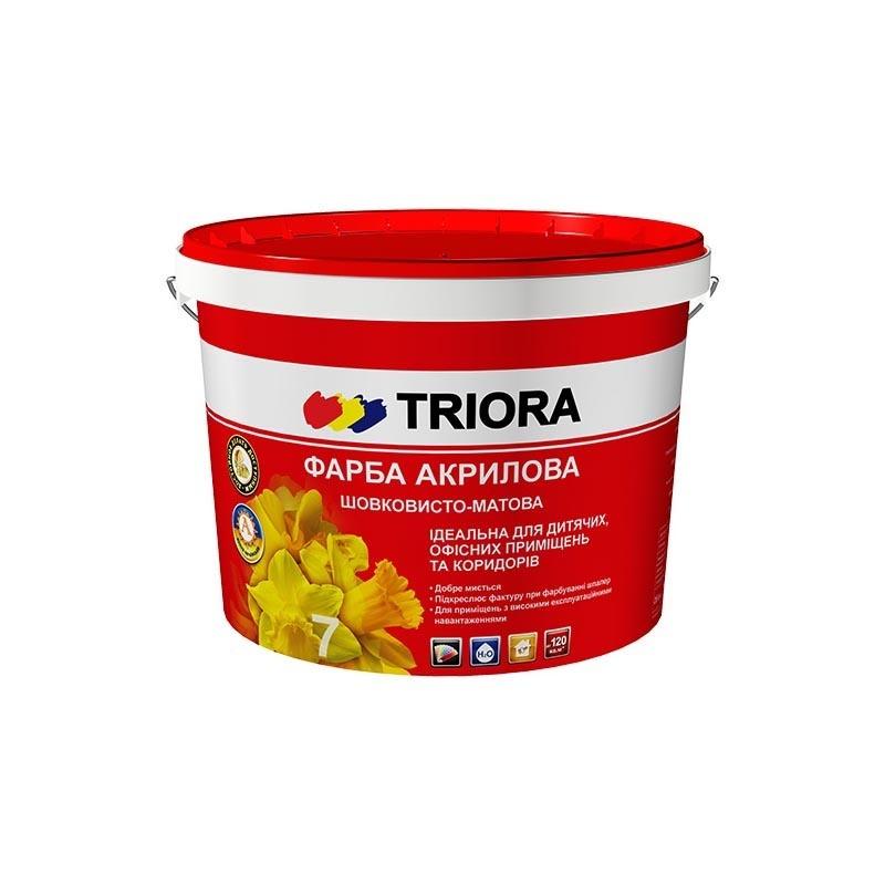 Краска акриловая TRIORA стойкая к мытью 1л - PRORAB
