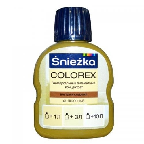 Краситель SNIEZKA Colorex 100мл 61 песочный - PRORAB image-19