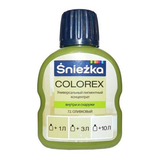 Краситель SNIEZKA Colorex 100мл 72 оливковый - PRORAB image-1