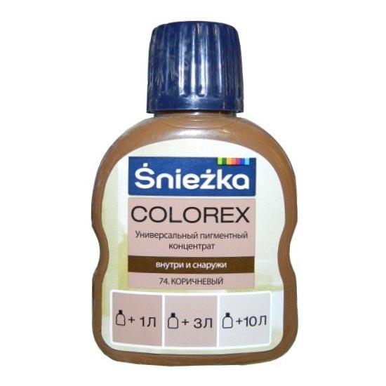 Краситель SNIEZKA Colorex 100мл 74 коричневый - PRORAB