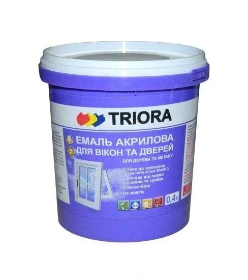 Эмаль акриловая TRIORA для окон и дверей 0,4л - PRORAB