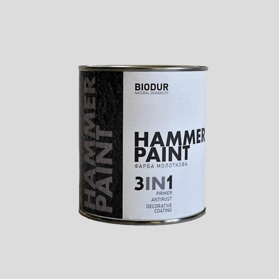 Краска молотковая 3 в 1 BIODUR Hammer Paint 0,7 117 коричневая - PRORAB