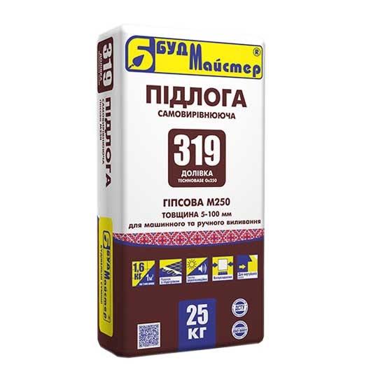 Самовыравнивающаяся смесь БУДМАЙСТЕР пол-319 25кг - PRORAB image-1