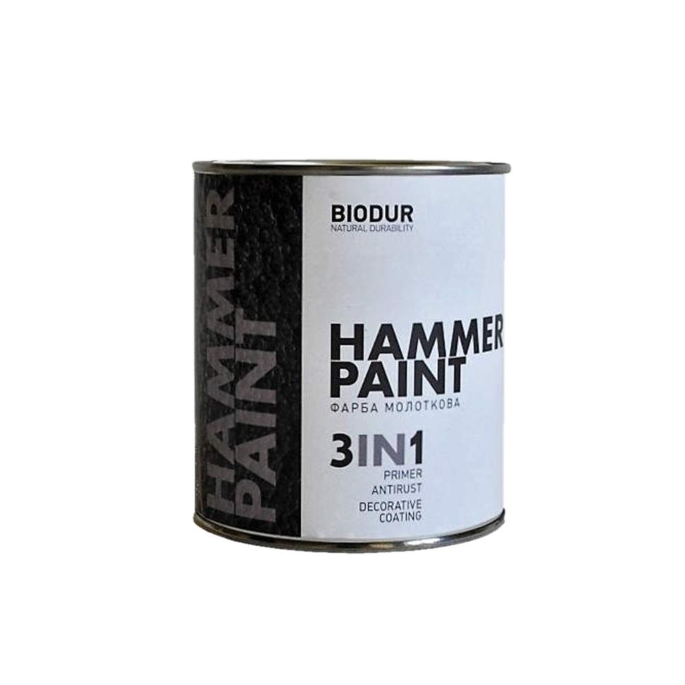 Краска молотковая 3 в 1 BIODUR Hammer Paint 2,1л 106 серебристо-серая - PRORAB image-2