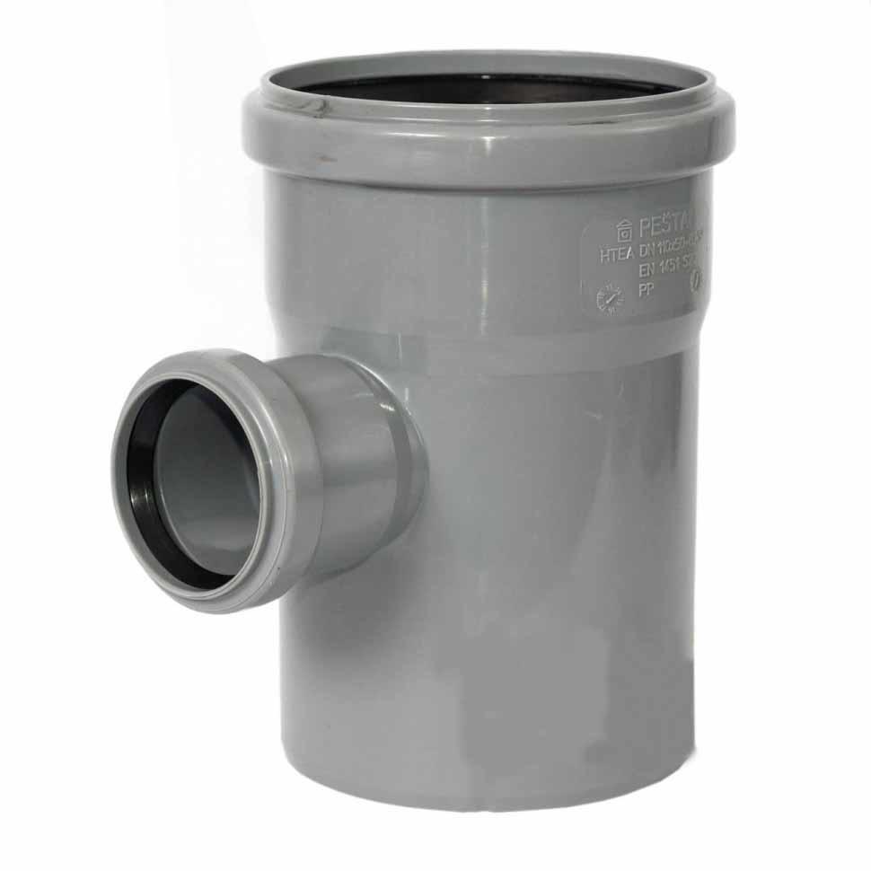 Тройник канализационный ROZMA 110 * 50 90 ° - PRORAB image-2
