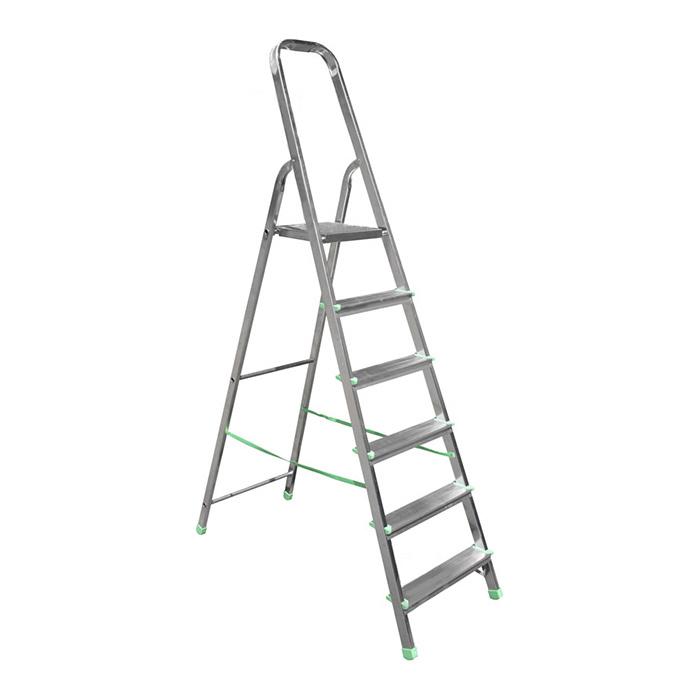 Лестница алюминиевая WERK LJG306D 6 ступеней - PRORAB image-1