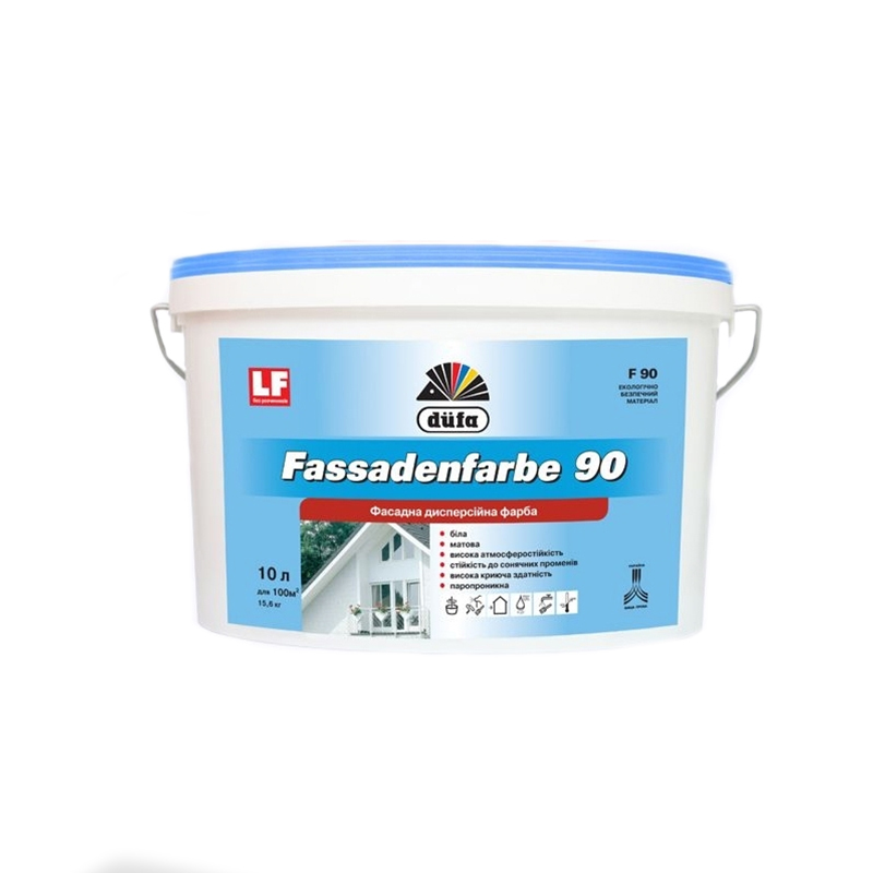 Краска фасадная DUFA Fassadenfarbe F90 2,5л - PRORAB