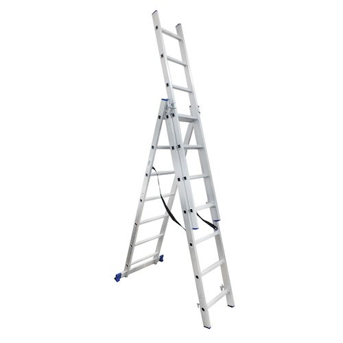 Лестница универсальная WERK 3 * 7 ступенек - PRORAB