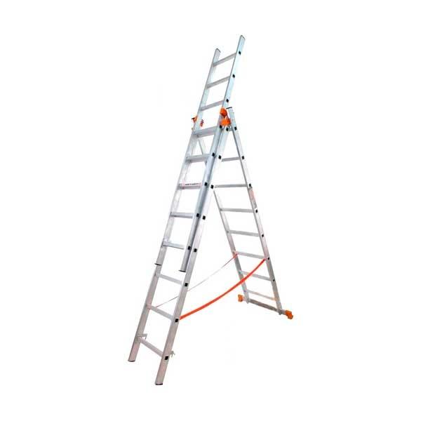 Лестница универсальная 3-секционная BUDFIX 3 * 9 ступеней - PRORAB image-1
