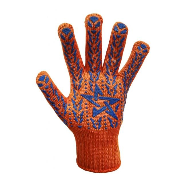 Перчатки DOLONI трикотажные оранжевые со звездой 564 - PRORAB