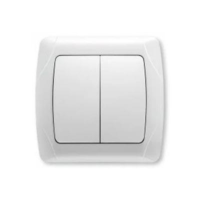 Выключатель VIKO Carmen 2-клавишный, внутренний белый - PRORAB