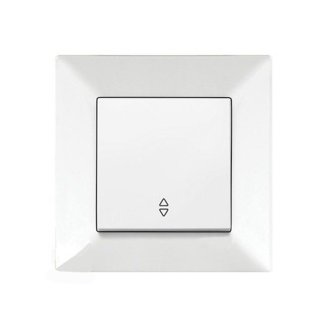 Выключатель VIKO Meridian 1-клавишный внутренний проходной белый - PRORAB image-19