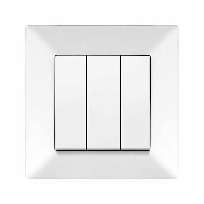 Выключатель VIKO Meridian 3-клавишный внутренний белый - PRORAB