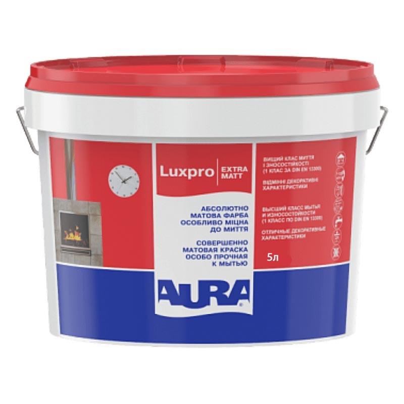 Краска AURA Luxpro ExtraMatt 5л акриловая моющая - PRORAB