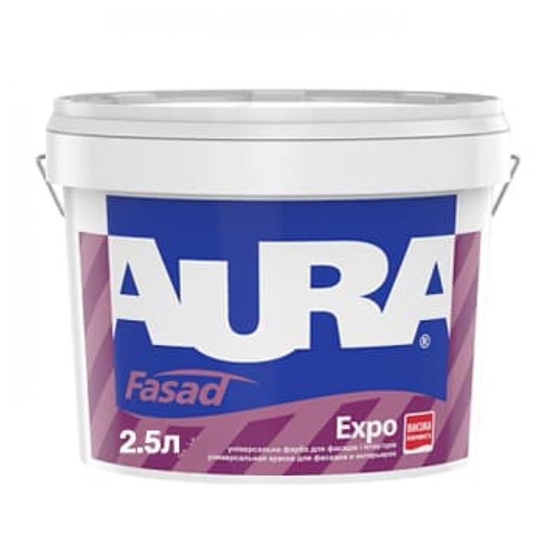 Краска фасадная AURA Fasad Expo 2,5л акриловая - PRORAB