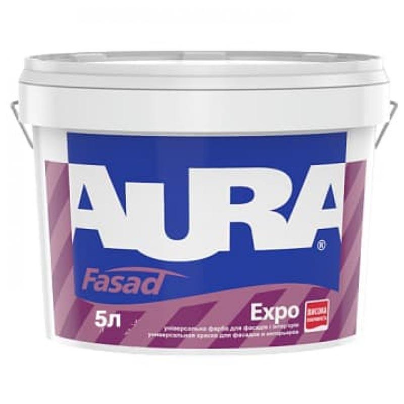 Краска фасадная AURA Fasad Expo 5л акриловая - PRORAB