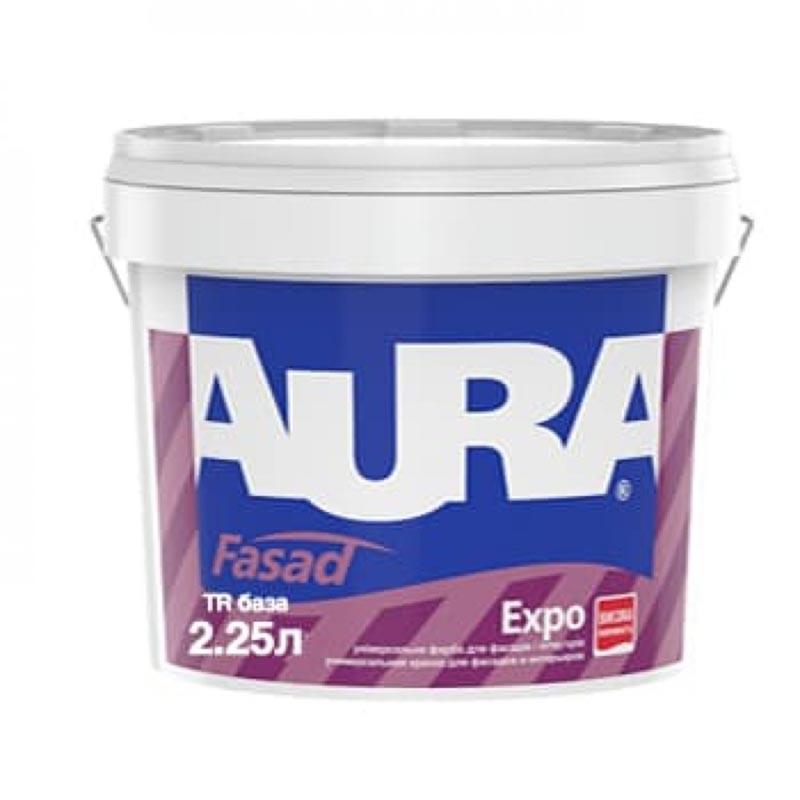 Краска фасадная AURA Fasad Expo TR 2,25л акриловая - PRORAB