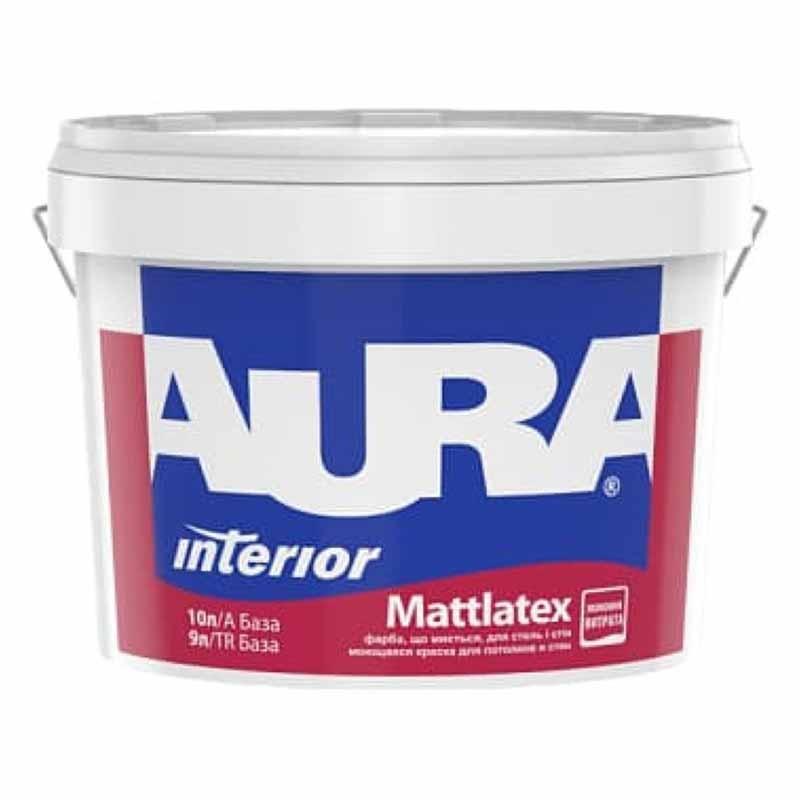 Краска AURA Mattlatex TR 9л бесцветная - PRORAB