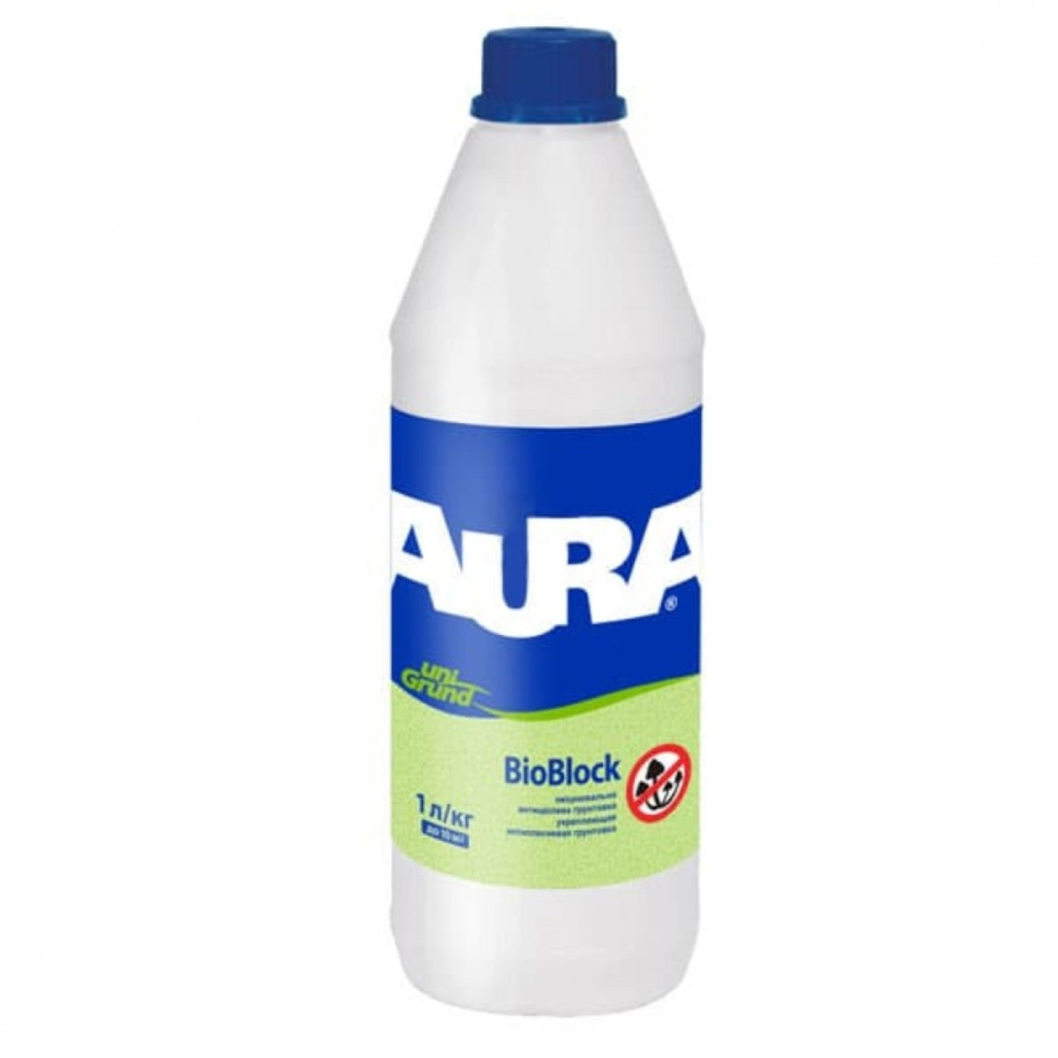 Грунтовка антигрибковая глубокопроникающая AURA Unigrund Bioblock 1л - PRORAB