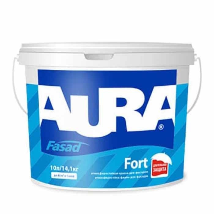 Краска фасадная AURA Fasad Fort 10л белая - PRORAB