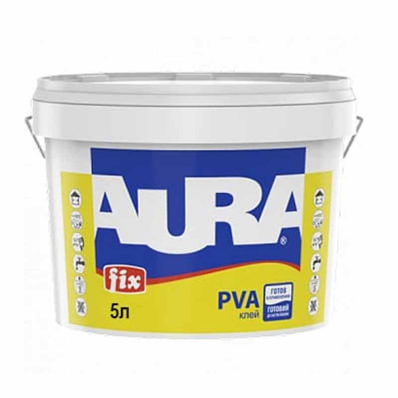 Клей ПВА AURA Fix 5л - PRORAB image-2