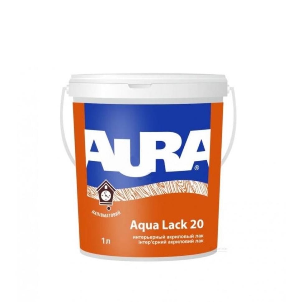 Лак AURA Aqua Lack 20 интерьерный 1л полуматовый - PRORAB