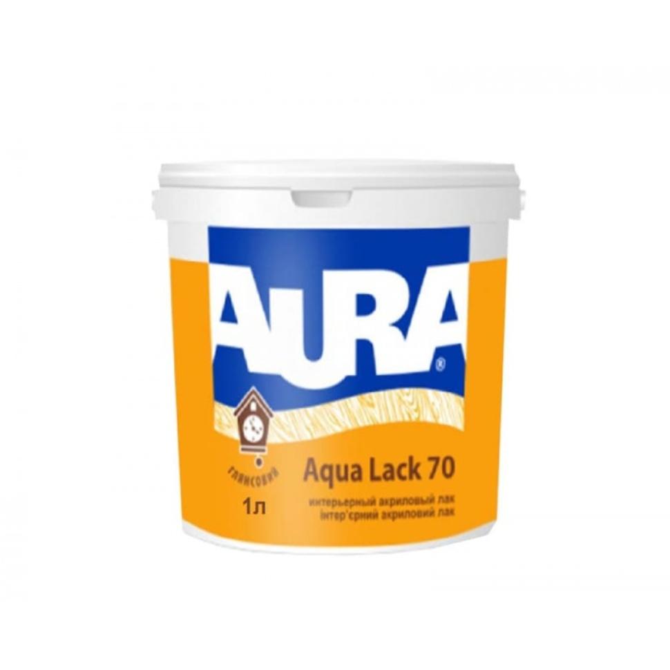 Лак AURA Aqua Lack 70 интерьерный 1л глянцевый - PRORAB