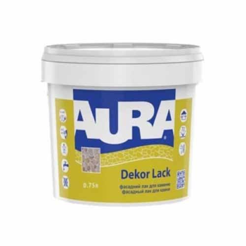 Лак для камня AURA Dekor Lack 0,75 акриловый фасадный полуглянец - PRORAB image-4