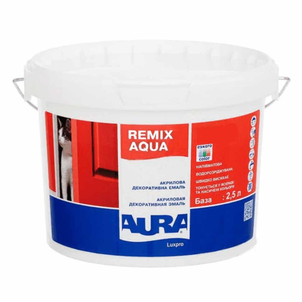 Эмаль акриловая AURA Luxpro Remix Aqua 30 2,5л - PRORAB