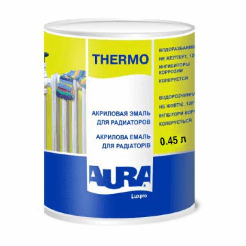 Эмаль для радиаторов AURA Luxpro Thermo 0,45л акриловая - PRORAB