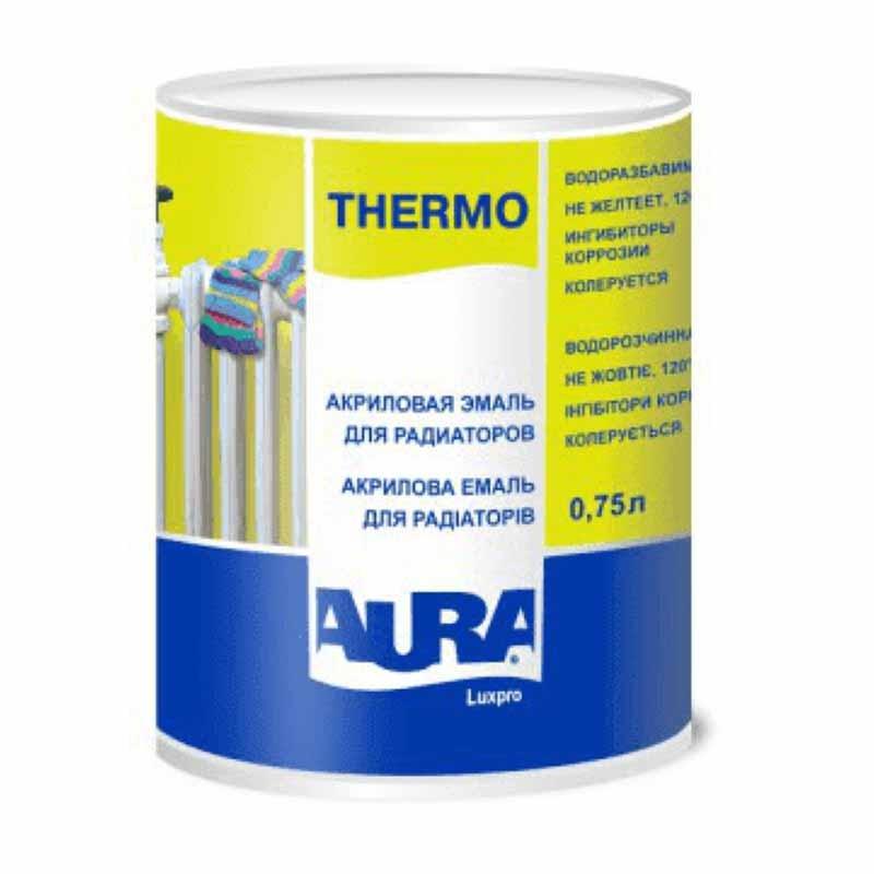 Эмаль для радиаторов AURA Luxpro Thermo 0,75 акриловая - PRORAB