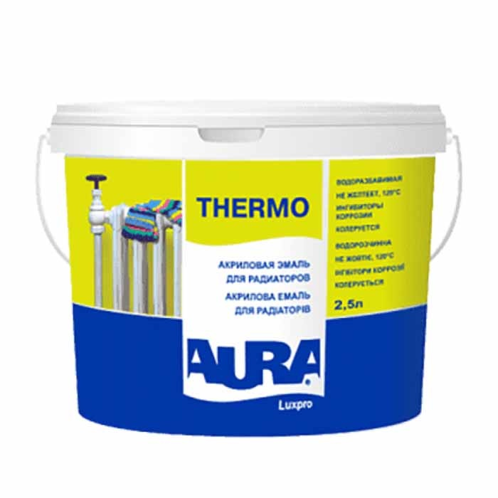 Эмаль для радиаторов AURA Luxpro Thermo 2,5л акриловая - PRORAB image-2
