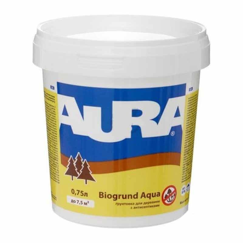 Грунт AURA Biogrund Aqua для древесины 0,75 с антисептиками - PRORAB