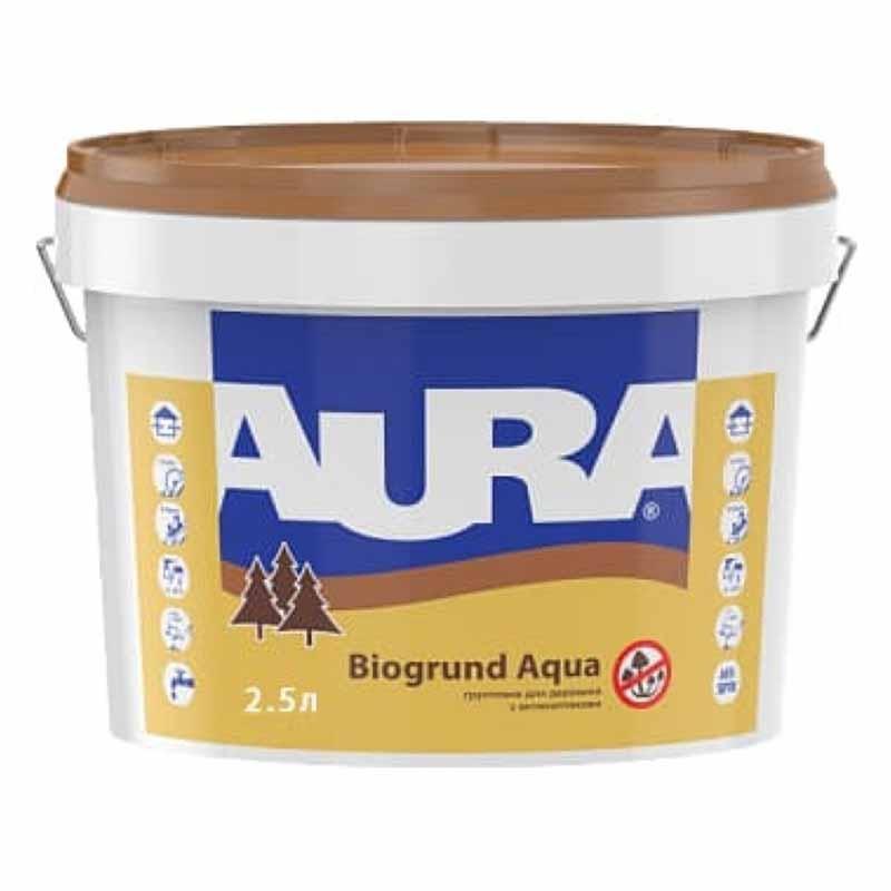 Грунт AURA Biogrund Aqua для древесины 2,5л с антисептиками - PRORAB image-1