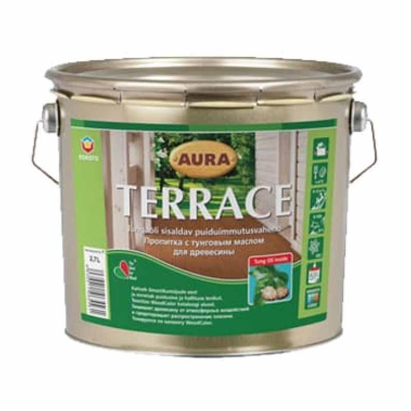 Масло для дерева AURA Terrace 2,7л бесцветная - PRORAB image-3