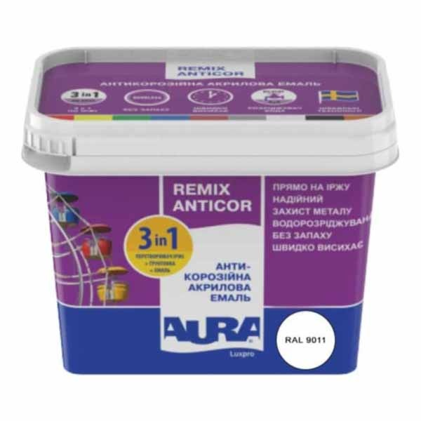 Эмаль антикоррозийная AURA Luxpro Remix Anticor белая 2,2л - PRORAB