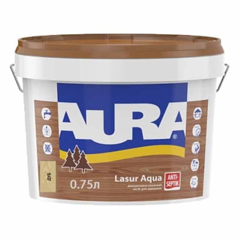 Деревозащитный средство AURA Lasur Aqua акриловый 0,07л дуб - PRORAB image-2