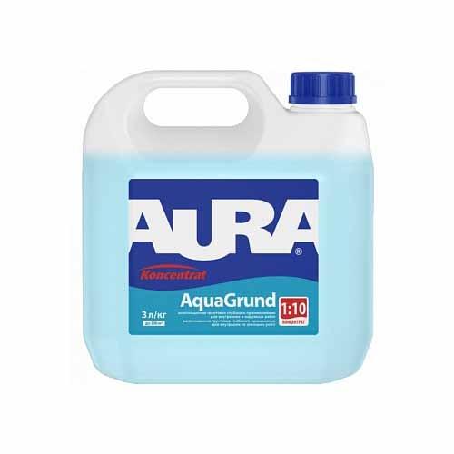 Грунтовка акриловая концентрат AURA Aqua Grund 3л - PRORAB