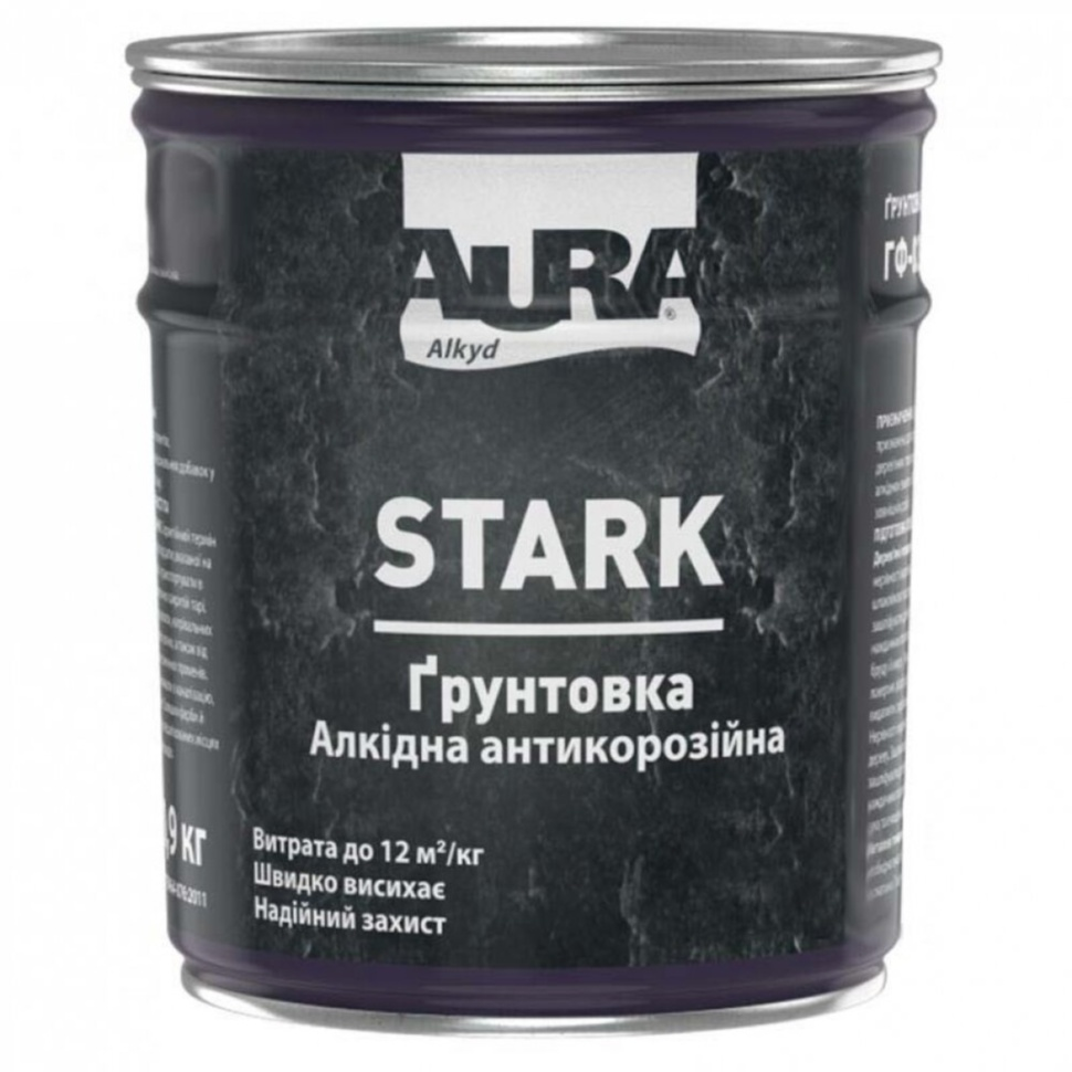 Грунтовка антикоррозийная AURA Stark 0,9кг белая матовая - PRORAB image-3
