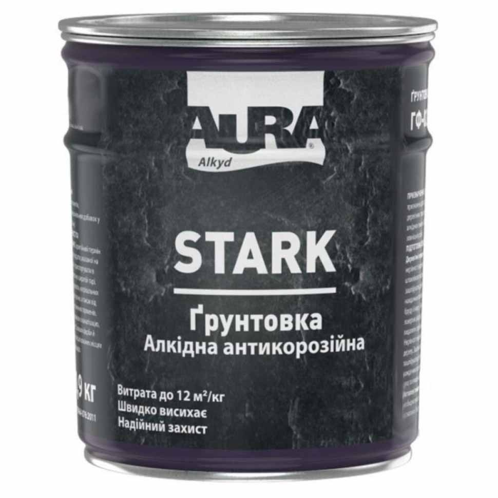 Грунтовка антикоррозийная AURA Stark 2,8кг белая матовая - PRORAB image-1