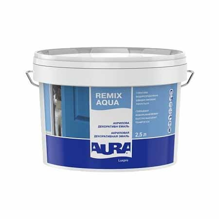 Эмаль акриловая декоративная AURA Luxpro Remix Aqua 2,5л - PRORAB