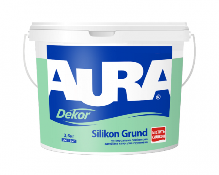 Грунтовка AURA Dekor Silikon Grund 2,5л - PRORAB
