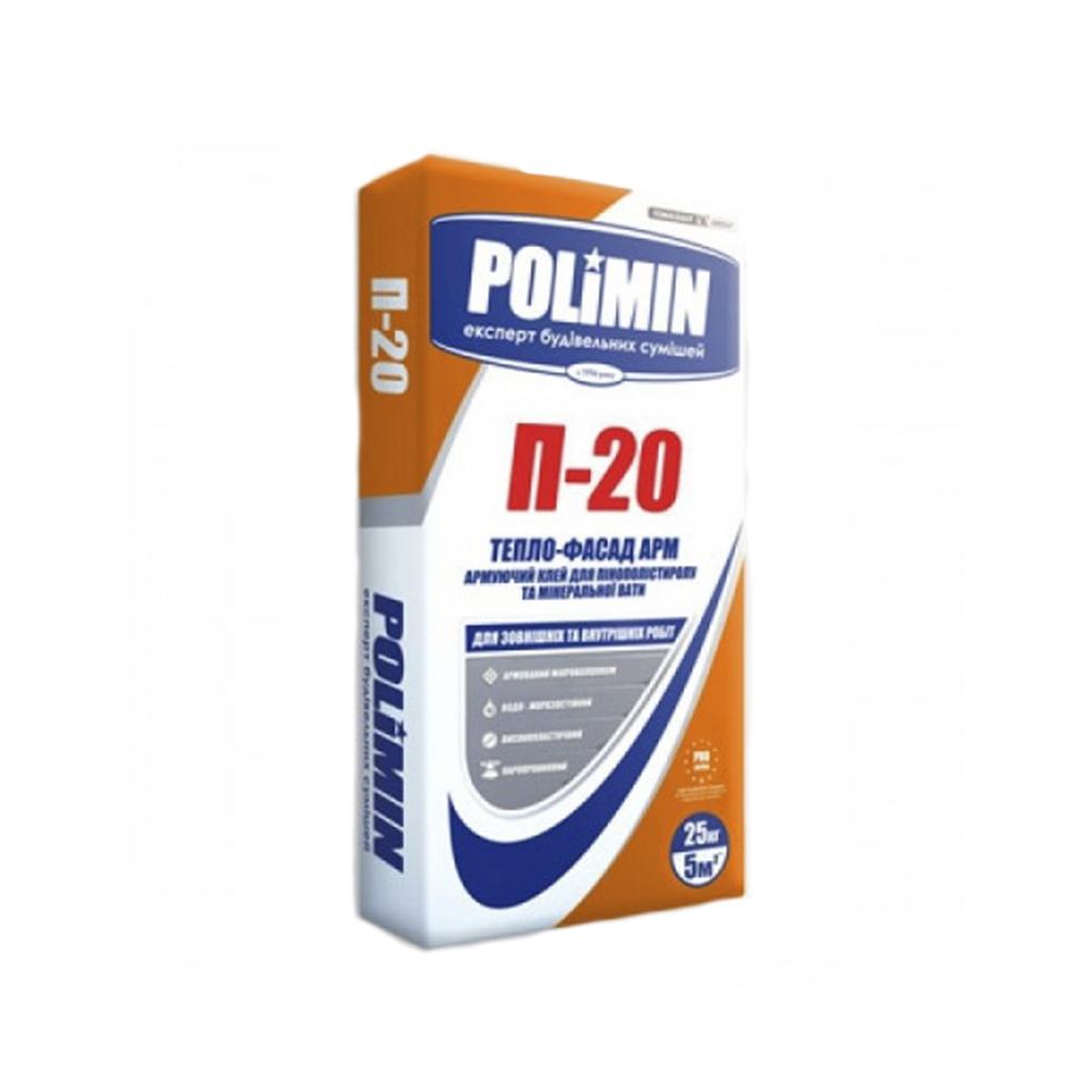Клей для пенополистирола и минеральной ваты POLIMIN П-20 25кг - PRORAB image-3