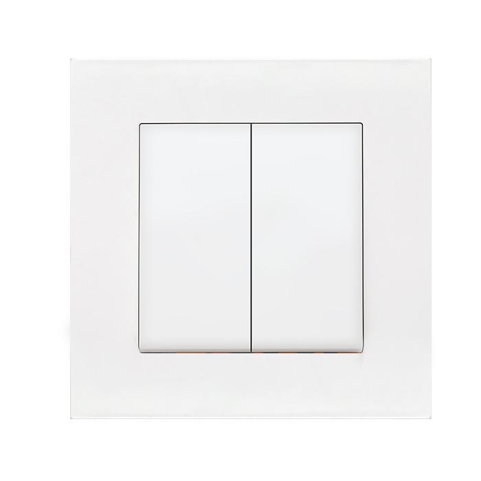 Выключатель VIKO Meridian 2-клавишный внутренний белый - PRORAB image-3