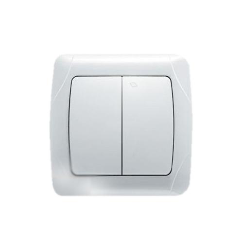 Выключатель VIKO Carmen 2-клавишный, внутренний белый - PRORAB image-1