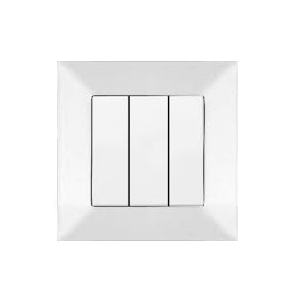 Выключатель VIKO Meridian 3-клавишный внутренний белый - PRORAB image-1